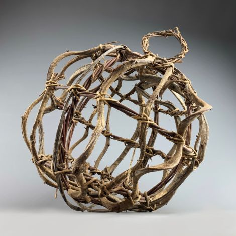 "Woven Vine Ball, approx. 16"" (40 cm) diameter natural product"