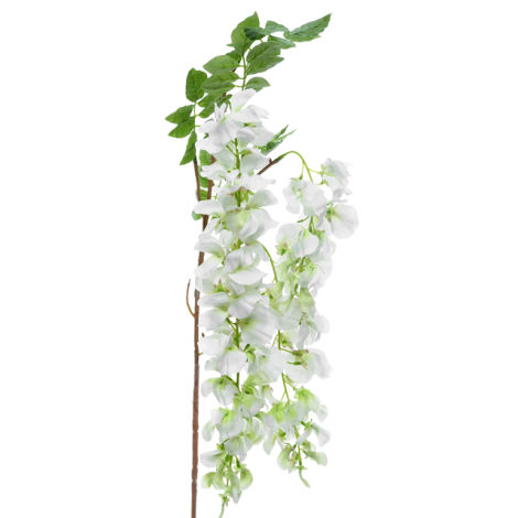 Wisteria Stem, Cream, 107cm long artificial flowers and bloom