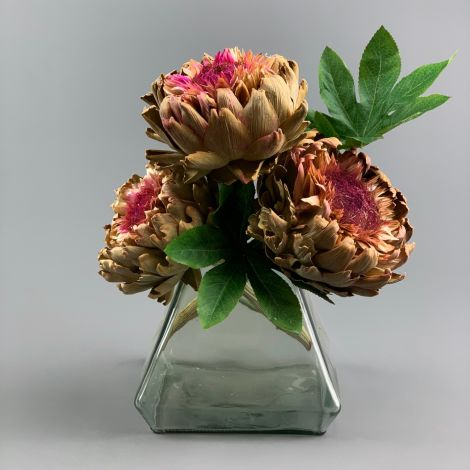 Artichoke Giant Purple , approx 40 cm long by 20 cm diameter dried flower head
