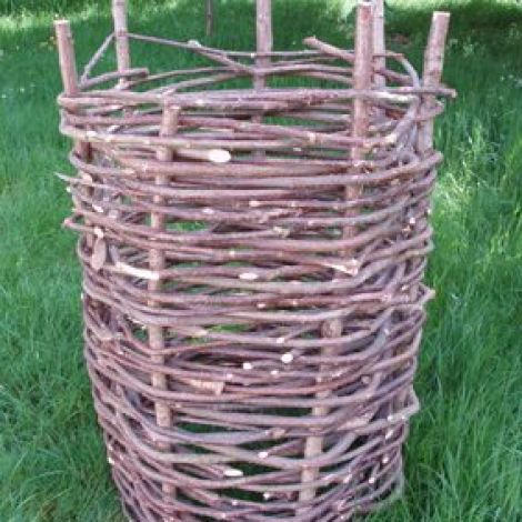 Woven Gabion, craftsman made in willow or hazel. Other sizes available to order
