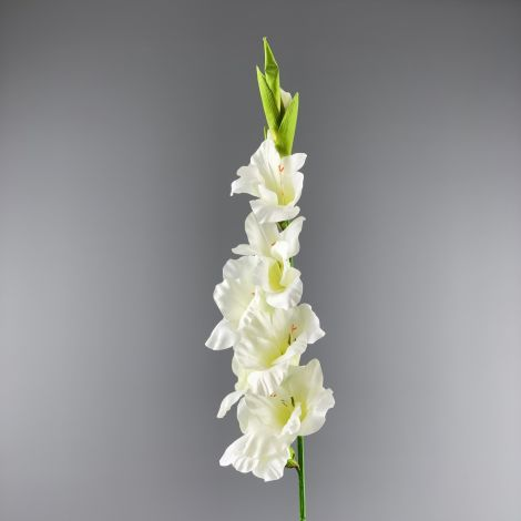 Gladiola Artificial Stem - Ivory/Cream