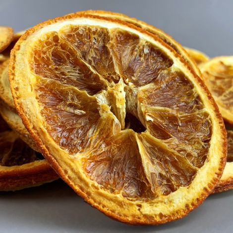 Orange Slices, 75-gram bag /25 slices, approx. 5 cm diameter natural, dried floral deco