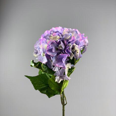 Hydrangea, Lavender 60 cm tall artificial blossom, poseable stem