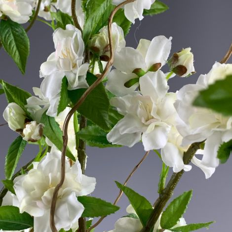 Apple Blossom Cream 92cm long, artificial stem