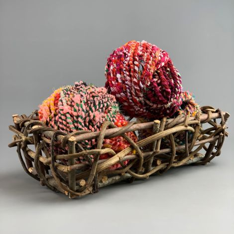 Vine Basket approx. 40 cm by 20 cm by 12 cm hand woven floral deco