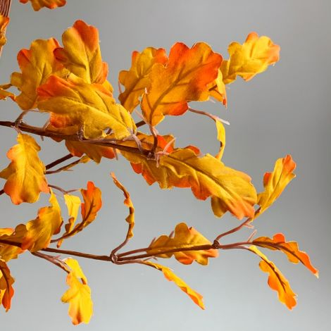 Autumn Oak Leaf Branch, artificial, approx 86cm  long floral deco.