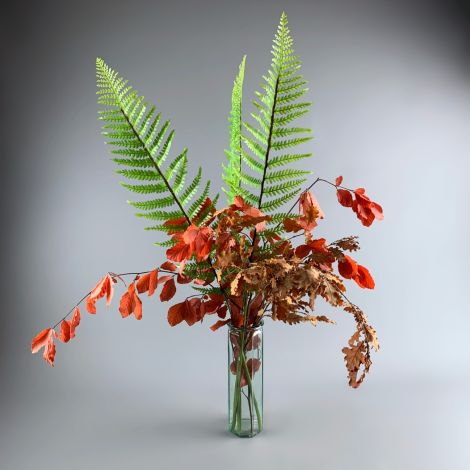 Fern Frond, 103cm long realistic artificial foliage on poseable stem