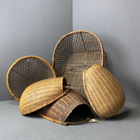5 x Authentic Japanese Tea & Rice Harvest Baskets, RENTAL ONLY