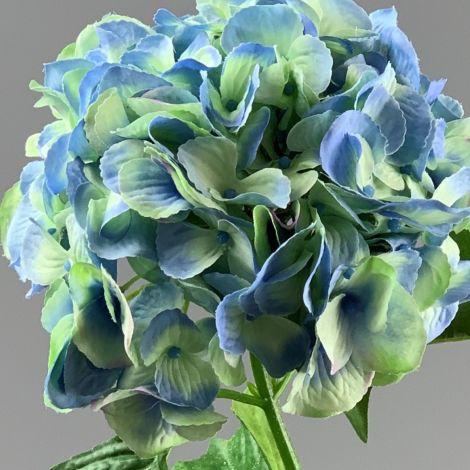 Hydrangea, Sky Blue, 70 cm tall artificial blossom, poseable stem