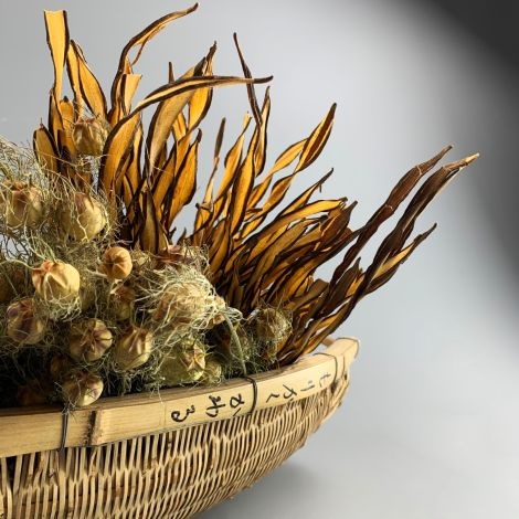 Fire Grass Twisted Bundle, approx. 30 cm to 40 cm long, natural dried floral deco