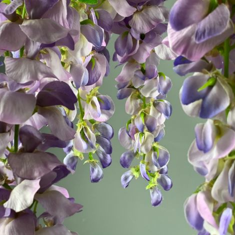 Wisteria Lilac approx. 60 cm long with 3 flower clusters and 80 leaves, artificial