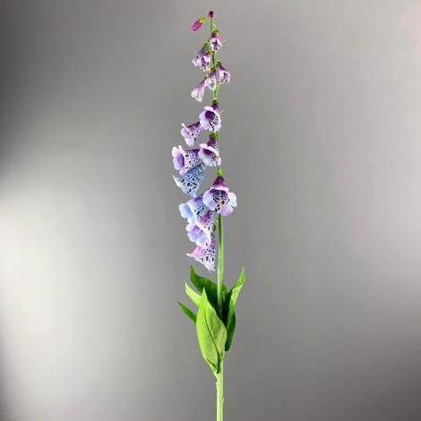 Foxglove, Purple, 107 cm tall artificial bloom on posable wired stem