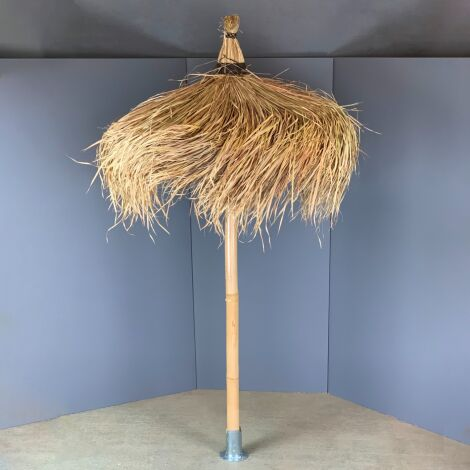 Thatched Parasol with Bamboo Pole.