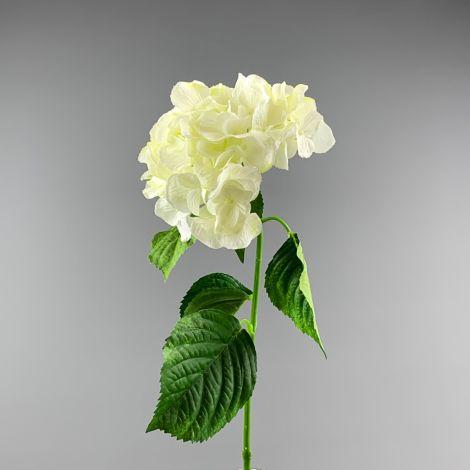 Hydrangea, Ivory, 70 cm tall artificial blossom, poseable stem