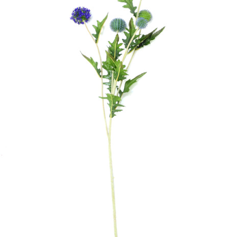 Globe Thistle, Purple, 92cm artificial flowers, foliage