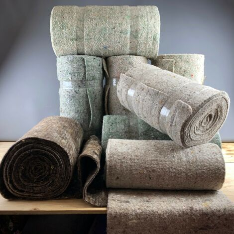 Ground Cover Textile Wool, in natural tones/heavy cloak and sleeping roll fabric roll.Approx 55cm wide by 10m length
