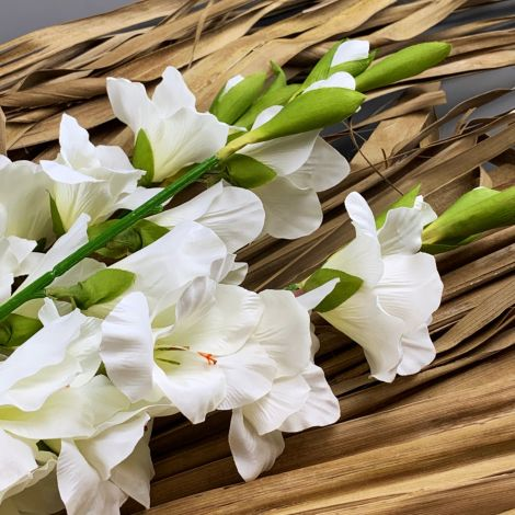 Gladiola Artificial Stem - Ivory/Cream