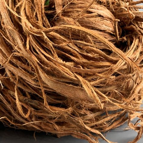 Bark Ribbon Hank, at least 1.1 m long by 8 cm diameter, natural pliable soft twine like