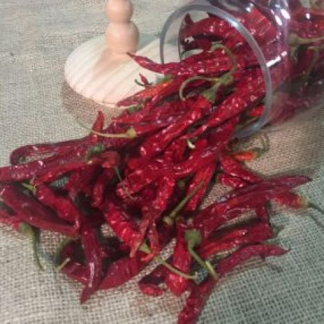 Chilli Fiery Red, 50-gram bag 30 fruits, approx. 14 cm long, natural, dried floral deco