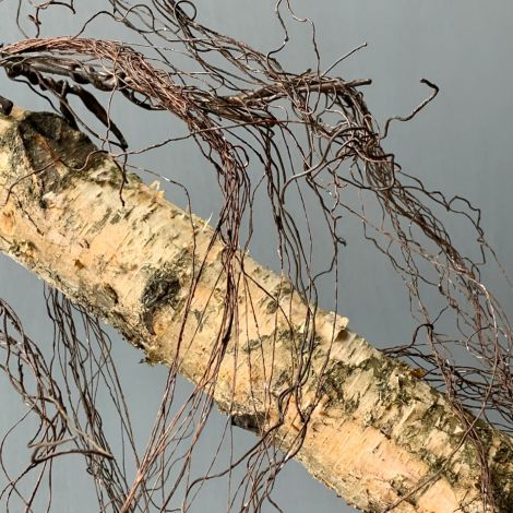 Frayed Vine, approx. 140 cm long, posable with wired stems, artificial