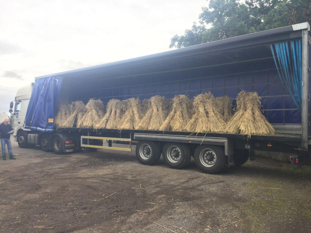 Stooks ready for travel - www.brandonthatchers.co.uk