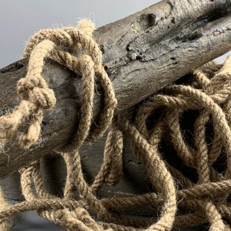 Jute Rope Hank, Approx. 10 m long, 5 mm Diameter Natural Rope