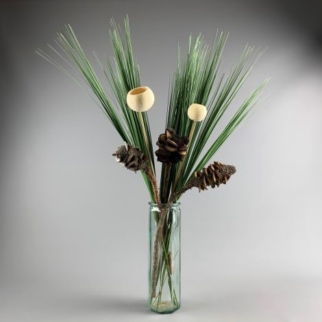 Hypericum Berries Twig Cream 72 Cm Artificial Foliage