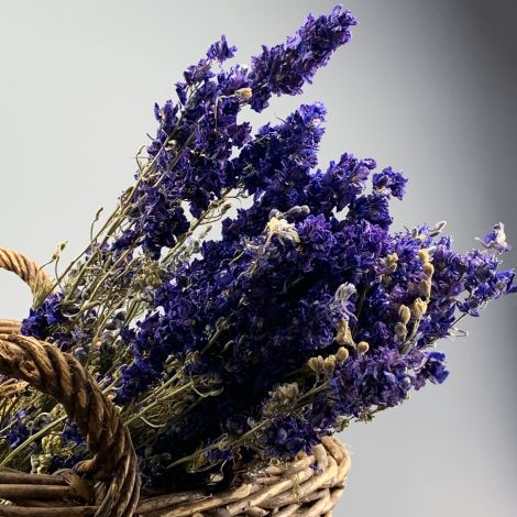 Larkspur Blue Bunch, 75cm tall natural dried flowers, indigenous UK grown