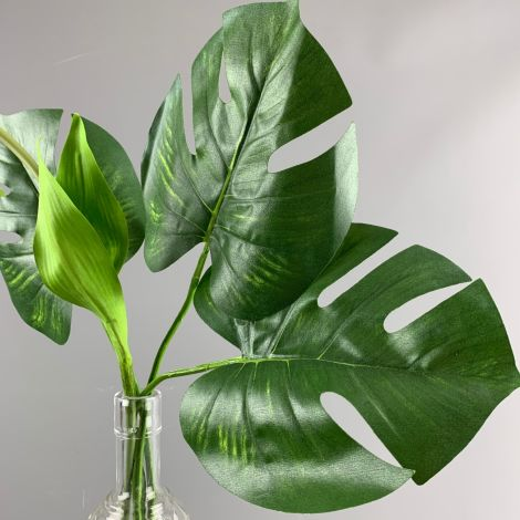 Monstera Tropical Leaf 42 x 28 cm artificial with poseable stem