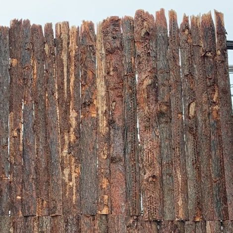Bark On Rustic Cladding, approx. 2.4 m long, 20 cm wide, 5 mm deep