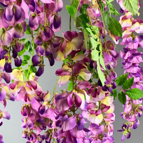 Wisteria Stem Purple, 107cm long artificial flowers and bloom