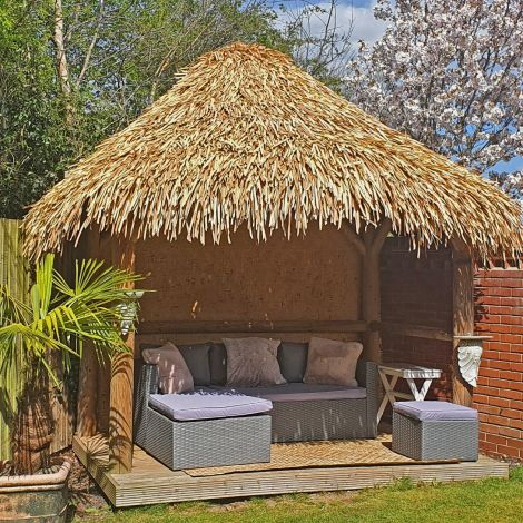 Thatch Tile – Palm Leaf Artificial/ Synthetic. Direct replacement & DIY fitting, gazebo, tiki/ beach bar, cabana. 800 mm long