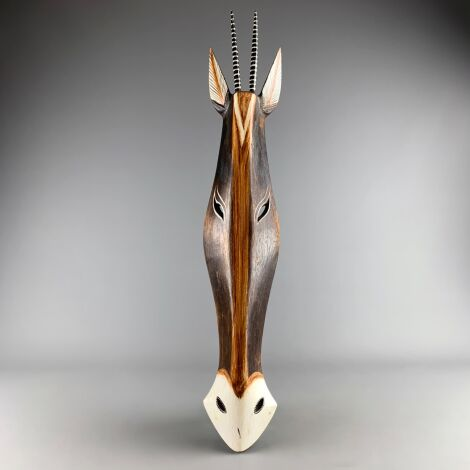 Gazelle Mask. Hand Carved & Painted. Fair Trade, Sustainable and Ethical