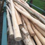 Stripped rustic pole – www.BrandonThatchers.co.uk