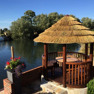 Thatched Gazebo Makeover