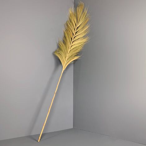 Rayung Leaf Giganticus, 2 m long, on fishpole bamboo cane. Natural floral deco
