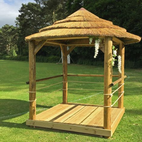 Thatch Tile – Combination. Synthetic surface on natural tile. Direct replacement & DIY fitting, gazebo, tiki/beach bar, cabana. 800 mm long by 450 mm tall