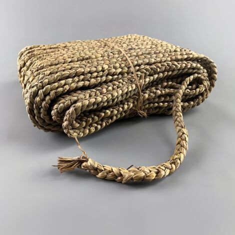 Mendong Rough Plaited Rush Hank Rope, Twine 2cm x 65 m long (2 kg weight)