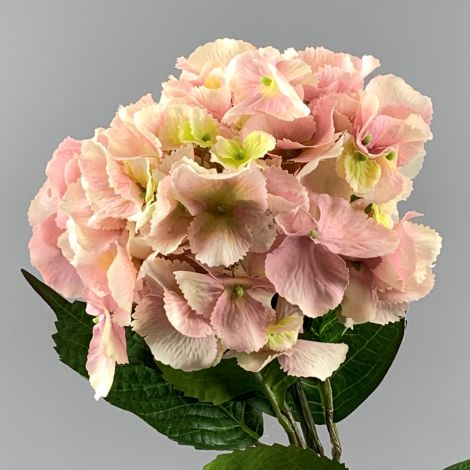 Hydrangea, Pink, 60 cm tall artificial blossom, poseable stem