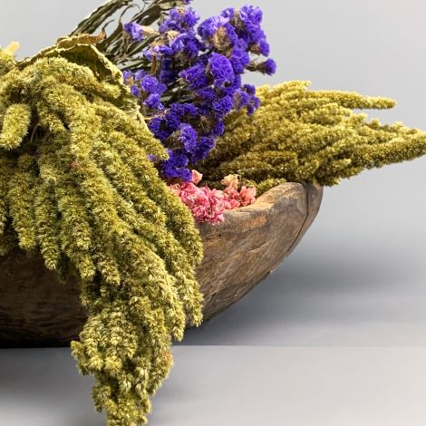 Aromanthus Field, approx. 80 cm long by 15 cm wide bunch of natural dried floral decoration