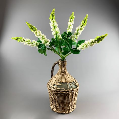 Lupin Cream, 81 cm tall artificial bloom on poseable wire stem