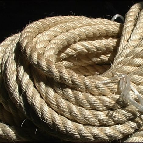 Sisal Rope, 12, 18, 24 or 32 mm diameter available. Natural wound rope