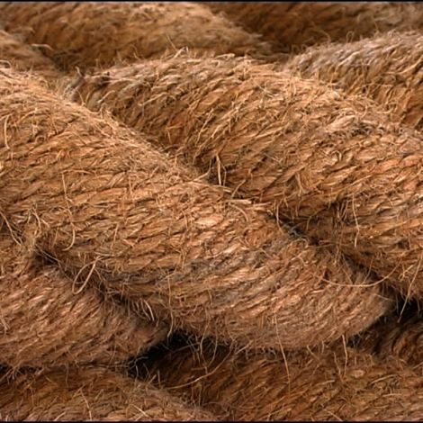 Coir Rope, 12, 18, 24 or 32 mm diameter available. Natural wound rope