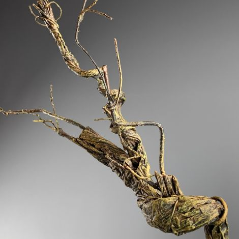 Gnarled Vine, approx. 120 cm long, posable with wired stems, artificial