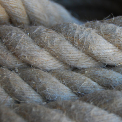 Hemp Rope, 12, 18, 24 or 32 mm diameter available. Natural wound rope