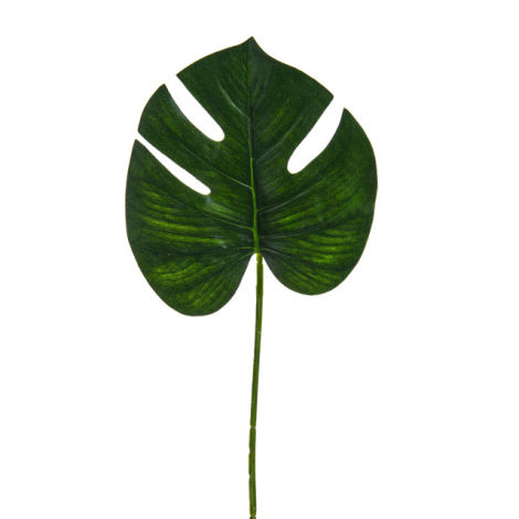 Cheese Plant Leaf, 26cm artificial leaf pack of six