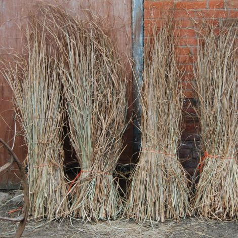 Sedge Bundle, approx. 1 m plus tall by 30 cm wide. Natural, dried, thatching material