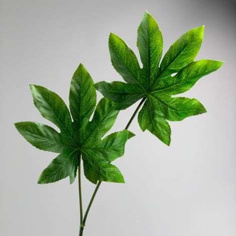Arali Leaf Double Spray 58 cm artificial leaf posable wire stem