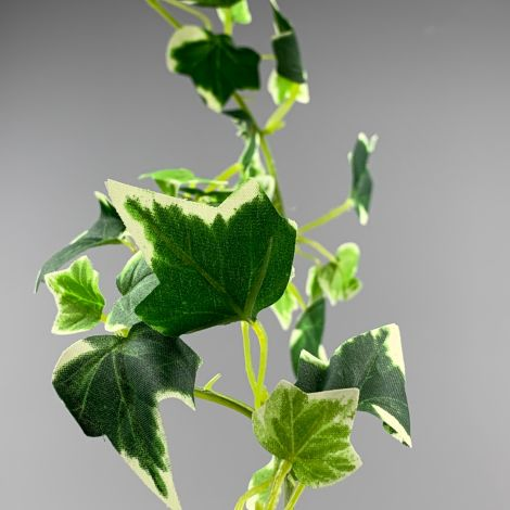 Ivy Garland Variegated Leaf, 185cm long, artificial with poseable stem