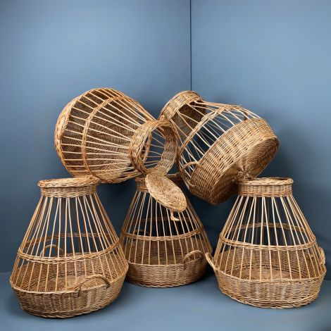 Traditional Chicken Market Basket. Hand woven and authentic with handle and removable lid